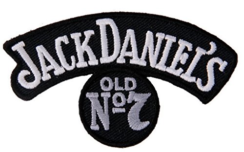 (Jack Daniels Small Rocker Silver Old No.7 Vintange Worn Like Style Motorcycle Biker Vest Patch)