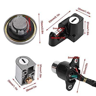 KIMISS Motorcycle Locks, Includes Fuel Gas Tank Cap Lock, Ignition Lock, Seat Lock, Helmet Lock, Keys, for Honda CMX250 Rebel 1985-2014 CA125XV125: Automotive