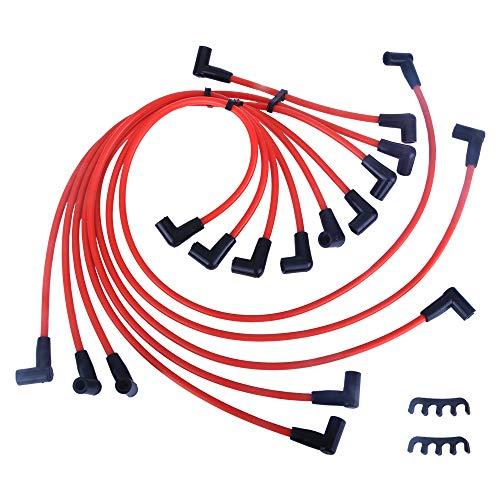 LAMDA New Spark Plug Ignition Wire Set Fit Chevrolet Blazer Suburban GMC Suburban Jimmy -
