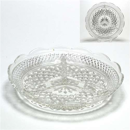 Wexford by Anchor Hocking, Glass Relish Dish, 3-Part (Three Part Relish Dish)