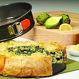 Rachael Ray Oven Lovin\' Nonstick Bakeware 9-Inch Springform Pan, Orange
