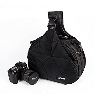 Caden DSLR Camera Sling Bag for 1 Camera, 2 Lens, Tripod, Rain Cover (Canon Nikon Sony Pentax)