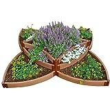 "Frame It All 300001198 Two Inch Series 96"" X 96"" X 16.5"" Composite Versailles Sunburst Raised Garden Bed Kit"
