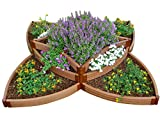 Frame It All FBPS9 One Inch Series Composite Versailles Sunburst Raised Garden Bed Kit, 96'' x 96'' x 165''