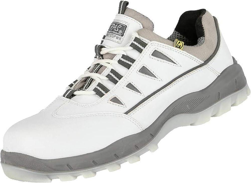 Nitras Sport Step S3 Zapatos de Seguridad - SRC ESD - Calzado de Trabajo con Puntera Composite - Blanco