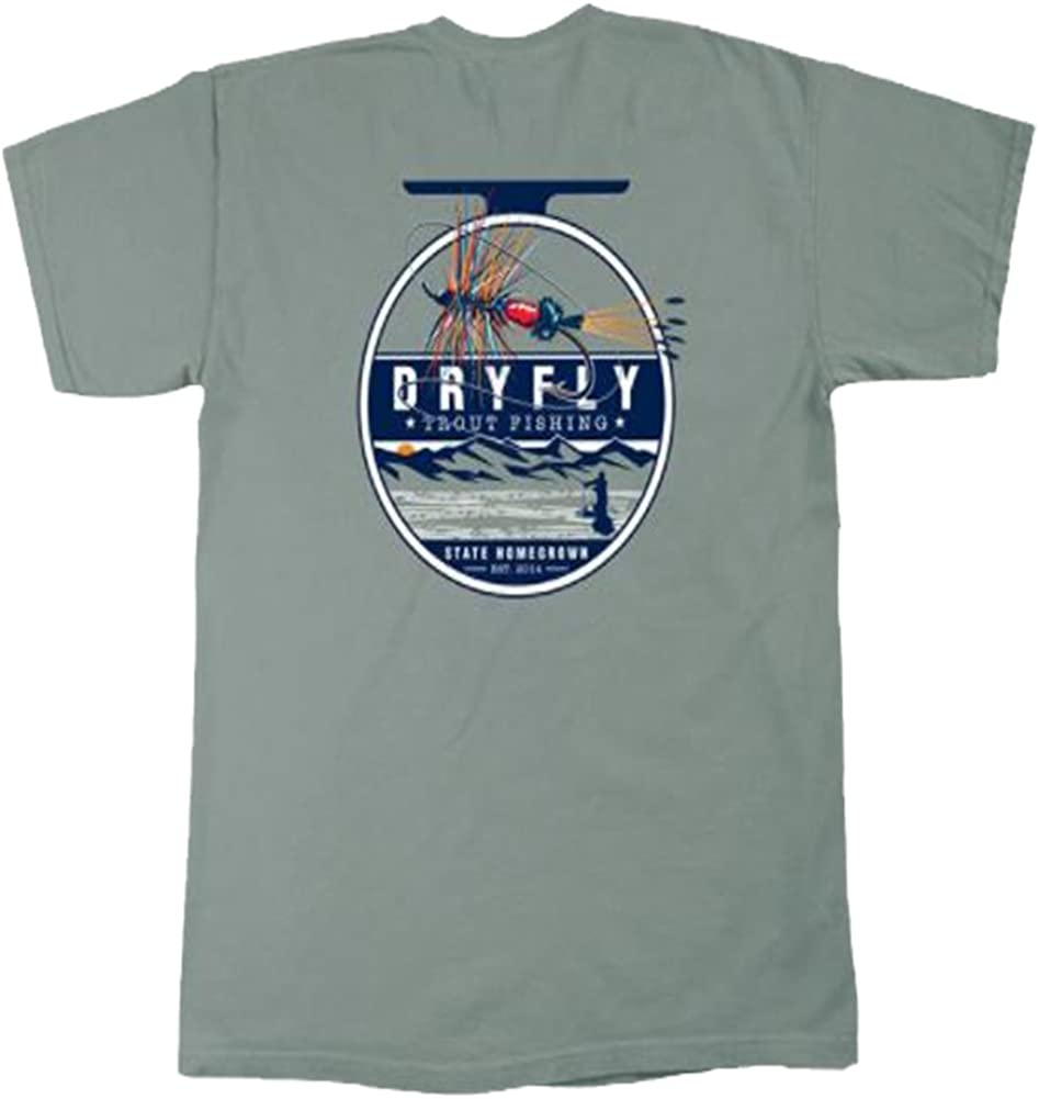 State Homegrown Dry Fly Short Sleeve Pocket Tee