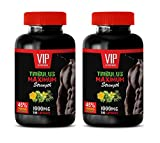 testosterone booster with estrogen blocker for men - TRIBULUS TERRESTRIS MAXIMUM STRENGTH - 45% STEROIDAL SAPONINS - tribulus natural - 2 Bottles (200 Capsules)