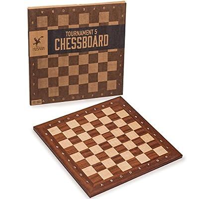 Professional Tournament Chess Board, No. 5, 19 Inches