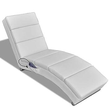 En Blanc Fzyhfa Artificiel Cuir Fauteuil De Massage Inclinable tshQrd