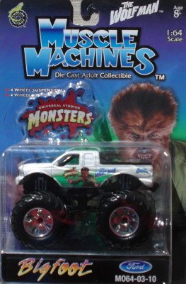 2003 Muscle Machines 1:64 Scale Universal Monsters Wolfman Ford Bigfoot M064-03-12