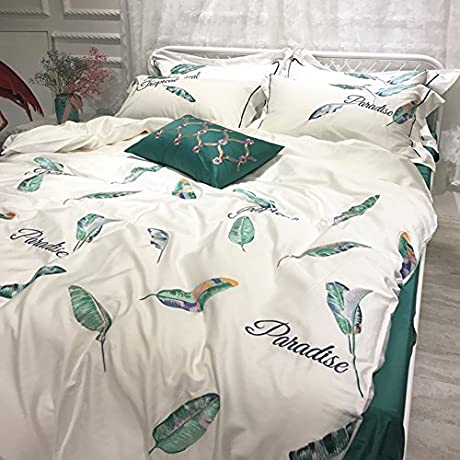 American Style Set Of Long Staple Cotton Four Cotton Princess Wind Bed Supplies A King
