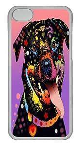 the happy rottie Custom iPhone 5C Case Cover Polycarbonate Transparent