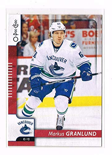 - 2017-18 - O-Pee-Chee - Markus Granlund - # 466 - RED Wrapper Redemption - Vancouver Canucks - OPC Hockey Card