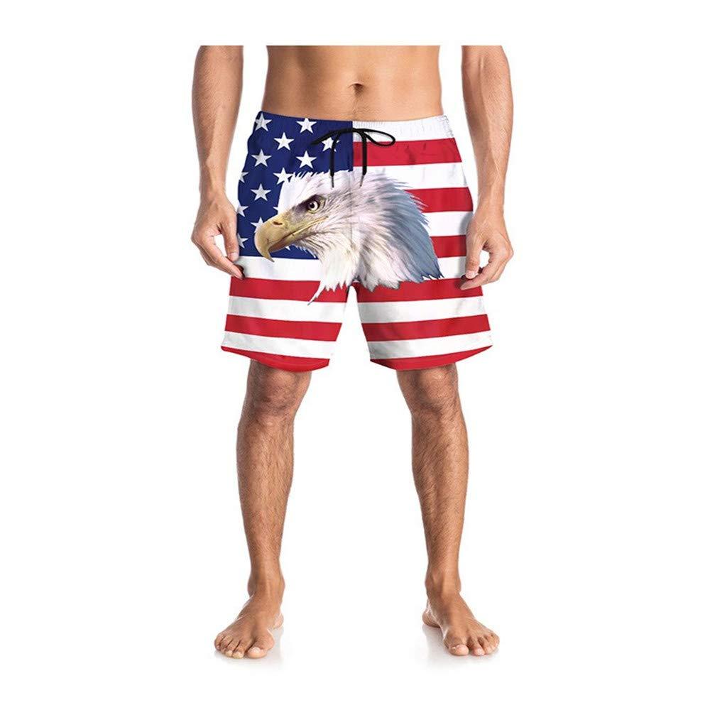 Yomiafy Mens 3D Printed Funny Swim Board Quick Dry Beachwear Beach Casual Shorts