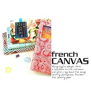 ARIUM Canvas View Diary Case Galaxy Note 4 N910 paisley-mint Cellulari Carcasas y fundas