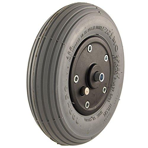 200-x-50-black-plastic-grey-pneumatic-tyre-powerchair-castor-wheel-by-flexel
