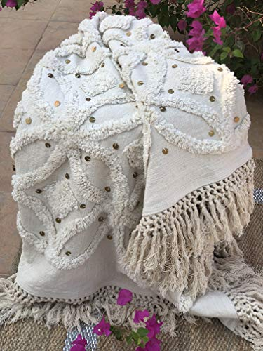 Ornate Handicrafts 100% Cotton Bohochic Throw Blanket Hand-Woven Artisan Original Sofa Couch Cover Beach Picnic Outdoor Everyday use 50