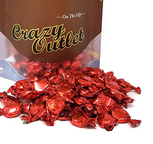 Cherry Hard Candy - CrazyOutlet Pack - Primrose Hard Candy Buttons Cherry Flavored, Red Wrap, 2 lbs