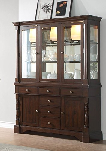 County Cottage Dark Brown Dining Furniture (Buffet & Hutch)