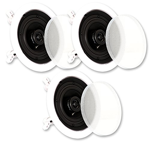 Theater Solutions CS4C In Ceiling Speakers Surround Sound Home Theater 3 Speaker Set CS4C-3S by Theater Solutions