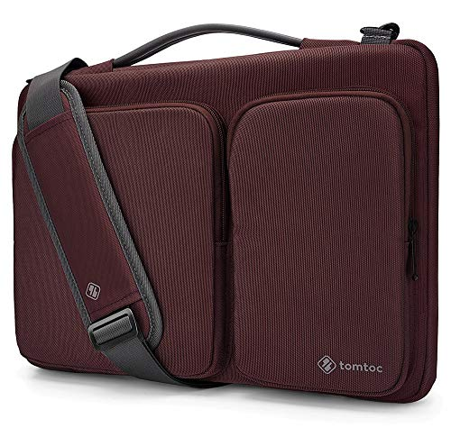 tomtoc 360 Protective Laptop Shoulder Bag for 13.3 Old MacBook Air, Old MacBook Pro Retina 2012-2015, Microsoft Surface Laptop, Surface Book, Ultrabook Case Bag withAccessory Pocket