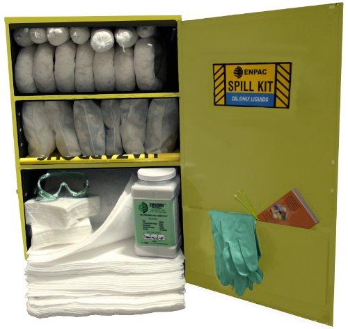 ENPAC 13-WMXL-O 126 Piece Wall-Mount Oil Spill Locker Kit...