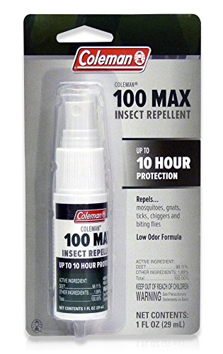 Coleman 100% Deet Insect Repellent, 100 Max Pump Spray 1oz (98.11%)