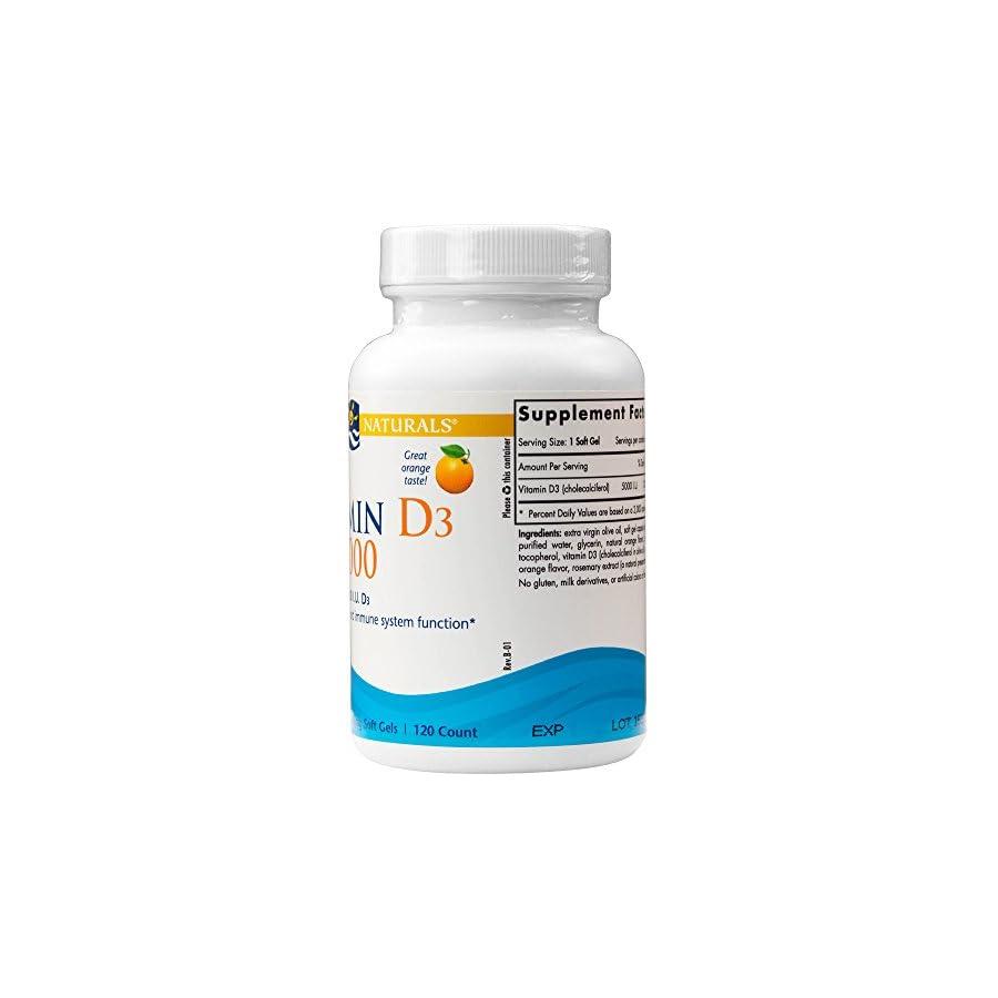 Nordic Naturals Vitamin D3 5000 IU Softgels ORANGE