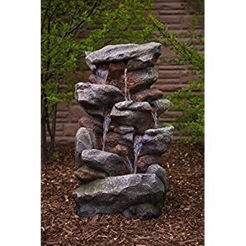 Bear Creek Waterfall Fountain - Towering Rock 