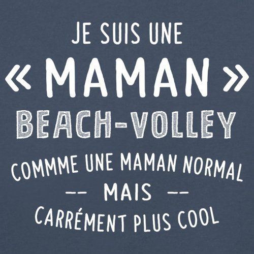 une maman normal beachvolley - Femme T-Shirt - Bleu Marine - XL