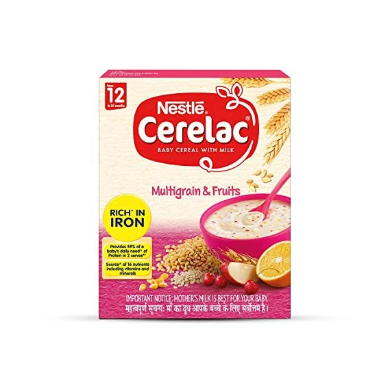 Nestle Cerelac Infant Cereal Stage-4 (12 Months-24 Months) Multi Grain & Fruits - 300g