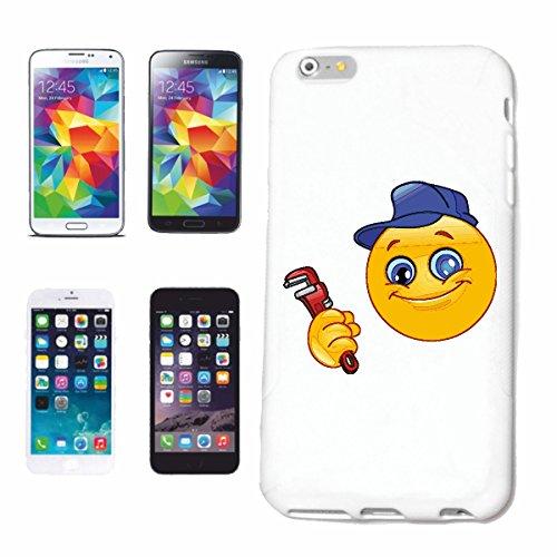 """cas de téléphone iPhone 7S """"SMILEY AS GARDIEN AVEC TONG ET CASQUETTE """"SMILEYS SMILIES ANDROID IPHONE EMOTICONS IOS grin VISAGE EMOTICON APP"""" Hard Case Cover Téléphone Covers Smart Cover pour Apple iPh"""