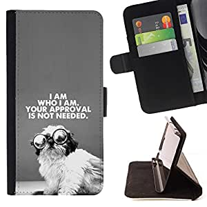 Momo Phone Case / Flip Funda de Cuero Case Cover - der Schwarz-Text - LG G4 Stylus H540