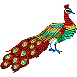 Peacock Peafowl Bird Embroidered Iron on Patch #FF