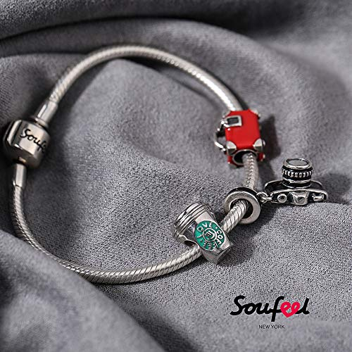 SOUFEEL Love Coffee Charms 925 Sterling Silver Charm for European Bracelets Friend Gift by SOUFEEL (Image #2)