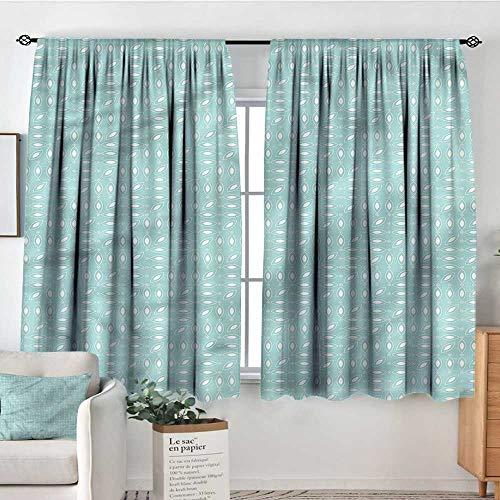 "Modern,Indoor Curtain Elliptic Shapes Small Dots 104""x72"" Decor Room Darkening IDE Curtains"