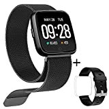 Good voice Fitness Tracker Smartwatch with All-Day Heart Rate, IP67 Waterproof Activity Tracker Watch with Sleep Calorie Counter Pedometer Watch for Kids Women Men