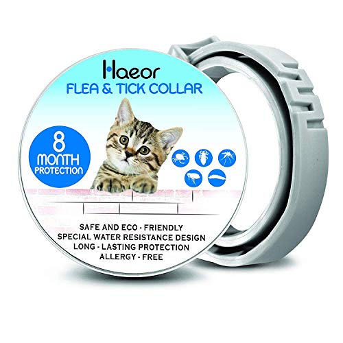 ONMOG Cats Flea and Tick Collar - Flea and Tick Prevention for Cats - 8 Months Flea Protection and Treatment for Cats - Advanced Natural Essential Oils Extract Cat Flea Collar - Waterproof Collar
