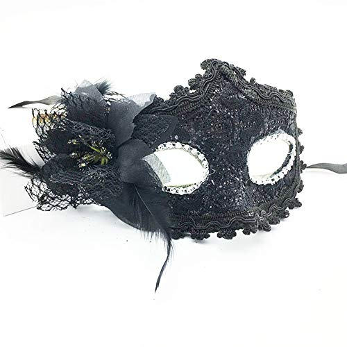 Masquerade Mask for Men Women Venetian Lace Masks Masquerade Party Half Face Masks Black