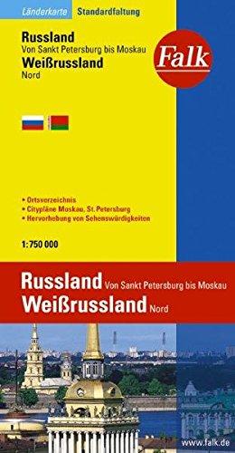 'Falk Länderkarte Russland Von Sankt Petersburg bis Moskau, Belarus Nord  1 : 750.000