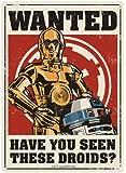 Star Wars ~ Small Wall Plaque/Sign (Metal/Tin) ~Star Wars ~ DROIDS