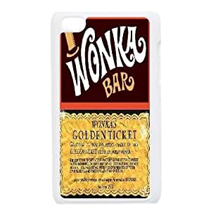 Customized Wonka Bar Golden Ticket Ipod Touch 4 Phone Case, Wonka Bar Golden Ticket Personalized Hard Back Cover Case for iPod Touch4 at Lzzcase