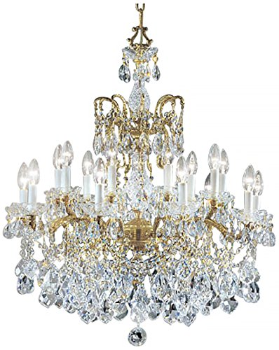 Classic Lighting 5548 OWB C Madrid Imperial, Crystal Cast Brass, Chandelier, 30