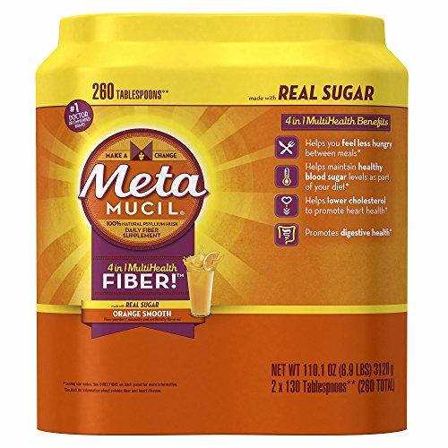 Product of Metamucil Orange Smooth Sugar Powder, 2 pk./130 tsp. - [Bulk Savings]