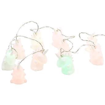 Einhornlichterkette Lichterkette Einhorn leuchtend 135 cm warmwei/ß Licht f/ür Kinder