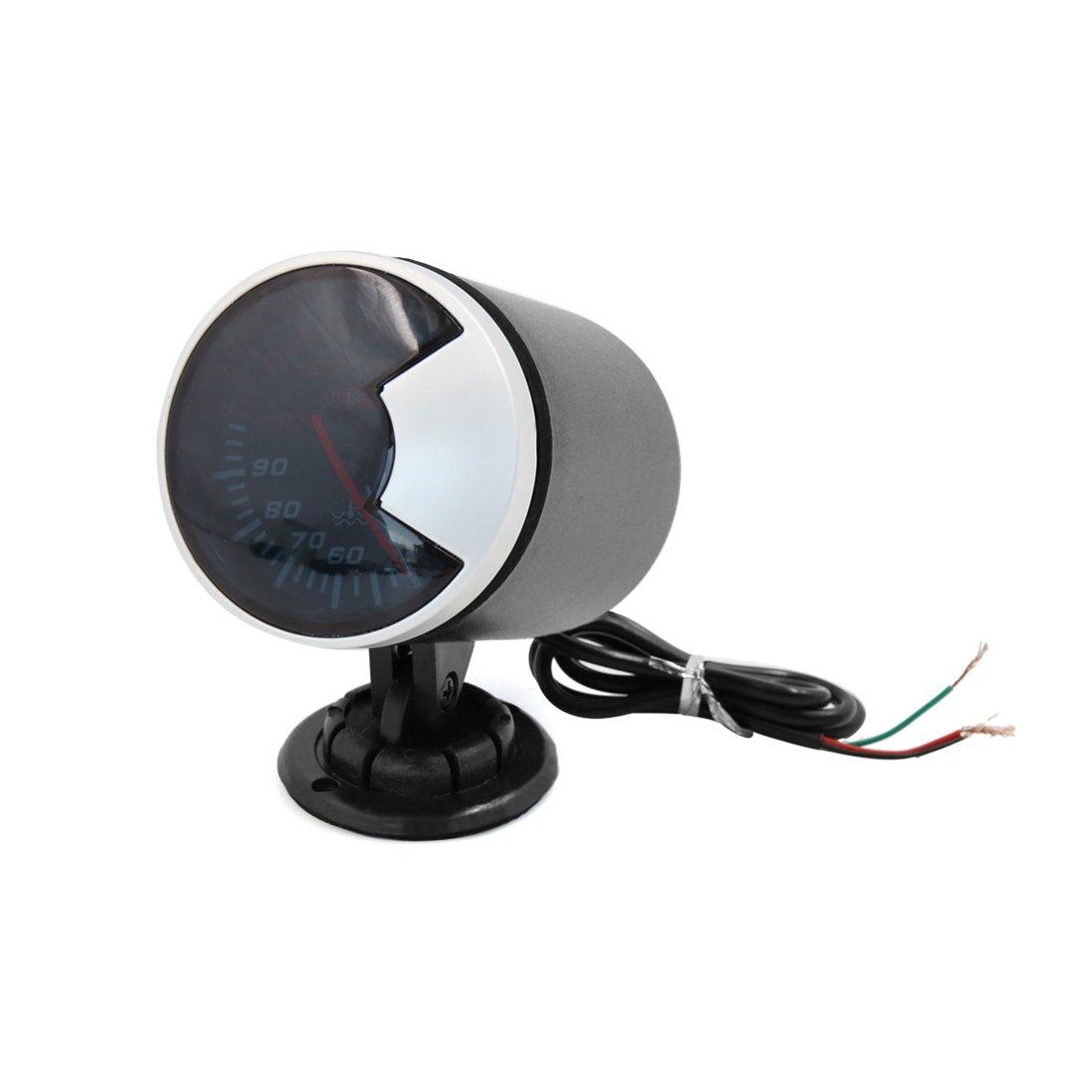 uxcell 40C-150C 68mm Dia Black Matal Plastic Car LED Water Temperature Indicator Gauge