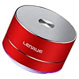LENRUE Portable Wireless Bluetooth Speaker with Built-in-Mic,Handsfree Call,AUX Line,TF Card for iPhone Ipad Android Smartphone and More (Shine Red)