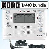 Korg TM40 Combo Digital Tuner/Metronome Bundle