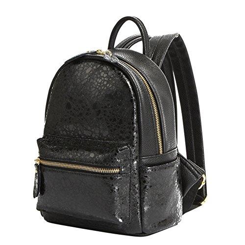 OCHENTA - Bolso mochila  de Piel Sintética para mujer Negro - negro