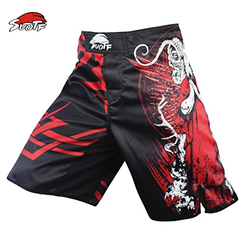 SUOTF Red Death Terror Combat Fitness Breathable MMA Boxing Pants Shorts MMA Pretorian Tiger Muay Thai Boxing Shorts Kickboxing